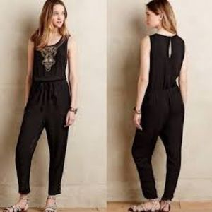 Anthropologie Lilka Allete Tribal Beaded Jumpsuit